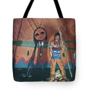 North American Indian Contemplating Tote Bag