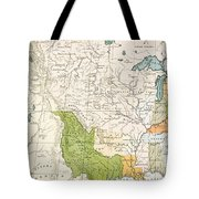 North American Indian Tribes, 1833 Tote Bag