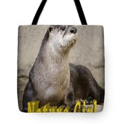 North American Otter Nature Girl Tote Bag