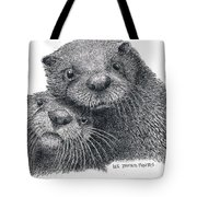 North American River Otters Tote Bag