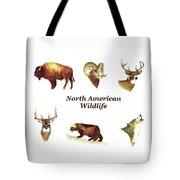 North American Wildlife Tote Bag