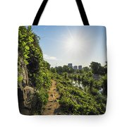 North Bank Trail Cliff Tote Bag