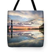 North Carolina Bodie Island Lighthouse Sunrise Tote Bag