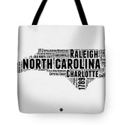 North Carolina Word Cloud Map 2 Tote Bag