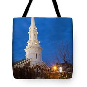 North Church At Twilight, Portsmouth, New Hampshire Tote Bag