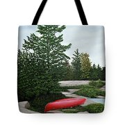 North Country Canoe Tote Bag