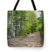 North Country Trail In Pictured Rocks National Lakeshore-michigan  Tote Bag