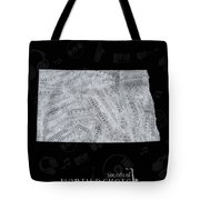 North Dakota Map Music Notes 2 Tote Bag