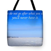 North Dakota Prairie Landscape With Inspirational Text Tote Bag