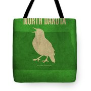North Dakota State Facts Minimalist Movie Poster Art Tote Bag