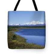 North Face Of Mount Mckinley, Lake Tote Bag