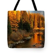 North Fork Yaak River Fall Colors #1 Tote Bag