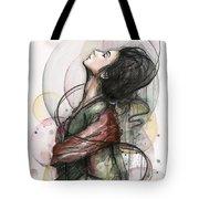 Beautiful Lady Tote Bag