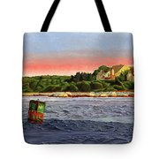 North River At Sunset Tote Bag