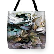 North Shore Abstract Wild Flowers Tote Bag