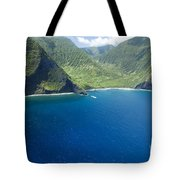 North Shore Cliff Coast Line Tote Bag