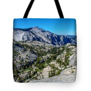 North Side Of Half Dome Valley Tote Bag