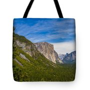 North Side Of South Valley Of Half Dome Tote Bag