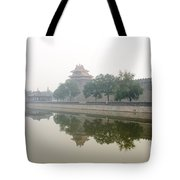 North Wall Of The Forbidden City Beijing China Tote Bag