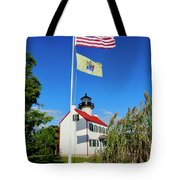 North Wind At East Point Light Tote Bag