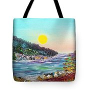 North With Yellow Sun Tote Bag