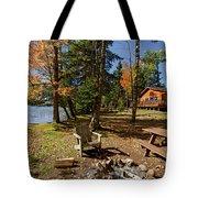 North Woods Lake Three Tote Bag