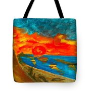 Northern Irish Sunset Tote Bag