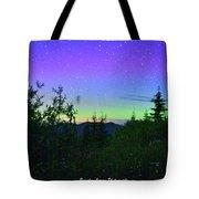 Northern Lights At Mount Pilchuck Tote Bag
