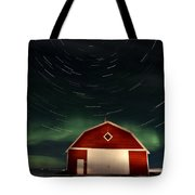 Northern Lights Canada Barn Tote Bag
