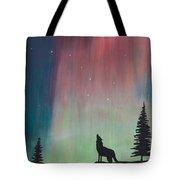 Northern Lights Stardust Tote Bag by Jackie Novak
