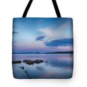 Northern Maine Sunset Over Lake Tote Bag