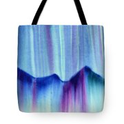 Northern Mountain Lights Tote Bag