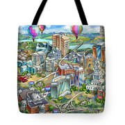 Northern Virginia Map Illustration Tote Bag