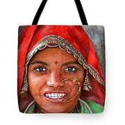 Northindian Woman Tote Bag