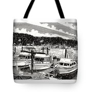 Gig Harbor Yacht Moorage Tote Bag