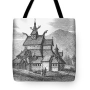 Norway: Borgund Church Tote Bag