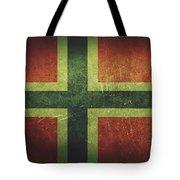 Norway Distressed Flag Dehner Tote Bag