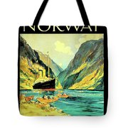 Norway Orient Cruises, Vintage Travel Poster Tote Bag