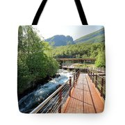 Norwegian Fjord Center In Geiranger Norway Tote Bag