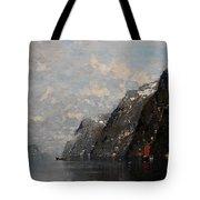 Norwegian Fjord Landscape Tote Bag
