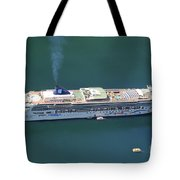 Norwegian Star In Geiranger Norway Tote Bag