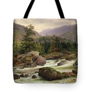 Norwegian Waterfall Tote Bag