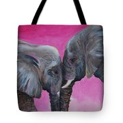 Nose To Nose In Pink Tote Bag