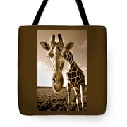 Nosey Giraffe Tote Bag