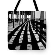 Nostalgic Walk On The Pier Tote Bag