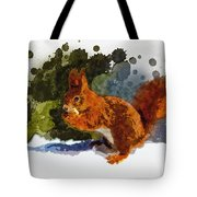 Not Much Goes On In The Mind Of A Squirrel Tote Bag