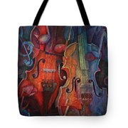 Noteworthy - A Viola Duo Tote Bag by Susanne Clark