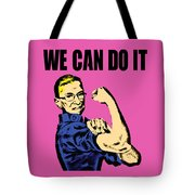 Notorious Rbg Ruth Bader Ginsburg We Can Do It Pop Art Tote Bag