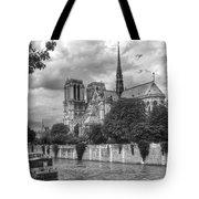 Notre Dame And Seine Tote Bag