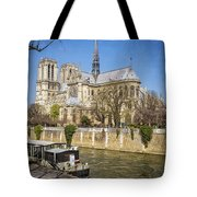 Notre Dame And The Seine Tote Bag